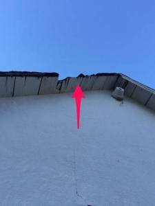 Damaged roof decking